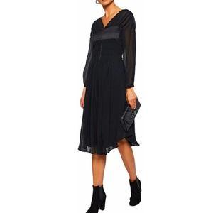 BELSTAFF Black Silk Knee Length Dress